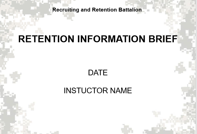 NGB Rentention Brief powerpoint slides