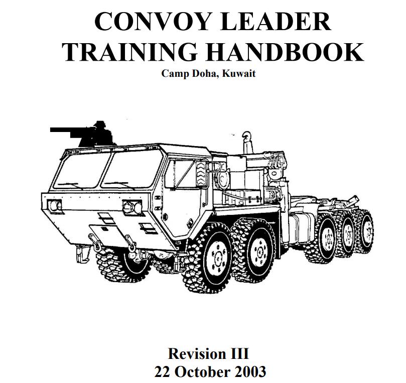 Convoy Leaders Handbook, Rev. 3