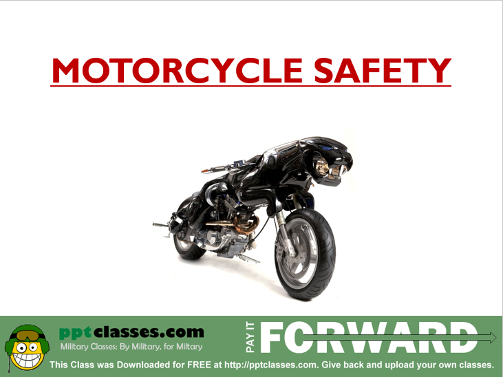 Motorcycle Safety V2