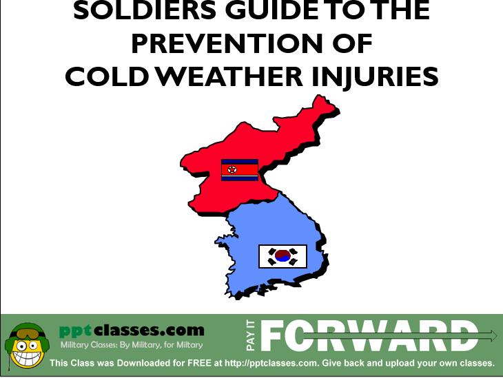 Korea Cold weather Training