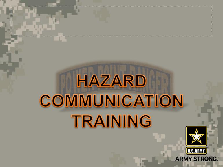 HAZCOM Safety Class