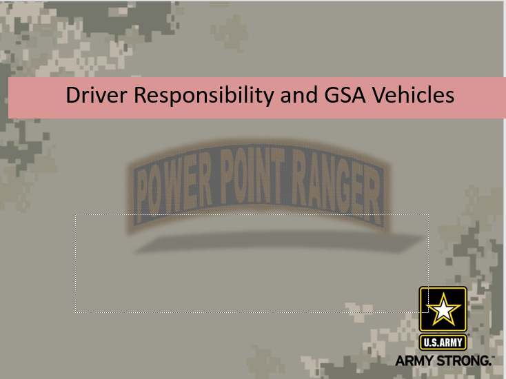 Driver Responsibility and GSA Vehicles