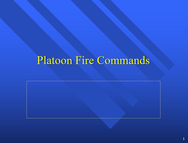 A power point class on platoon fire commands