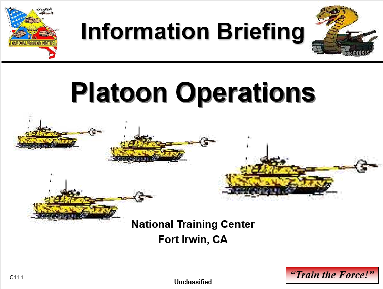 A power point class to platoon operations