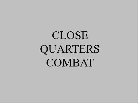Close Quarters Combat 1,996