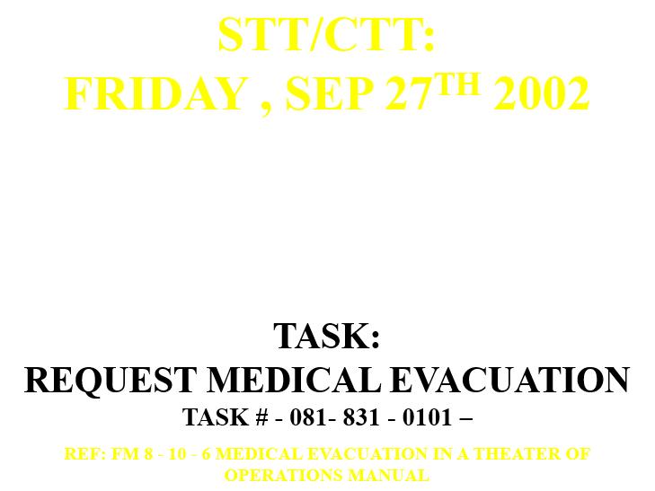 Casualty Evacuation (CASEVAC)