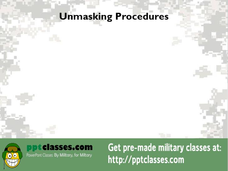 Unmasking Procedures