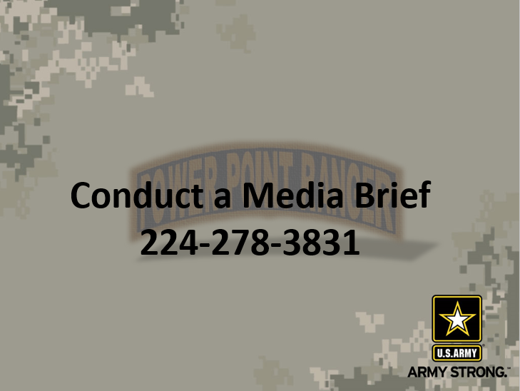 Conduct a Media Briefing