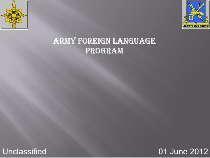 Army Language Program