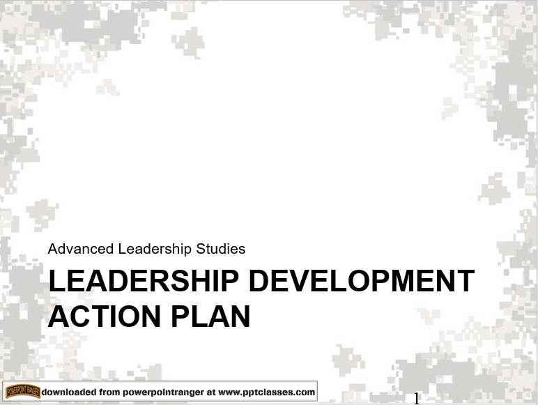 Leadership: Develop an Action Plan Version II