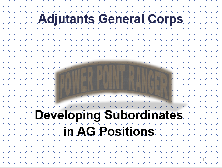 Develop Subordinates (AG)
