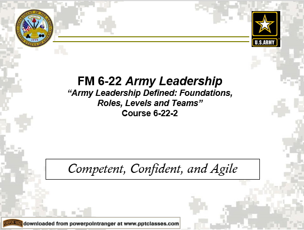 Army Leadership-Roles(FM 6-22)