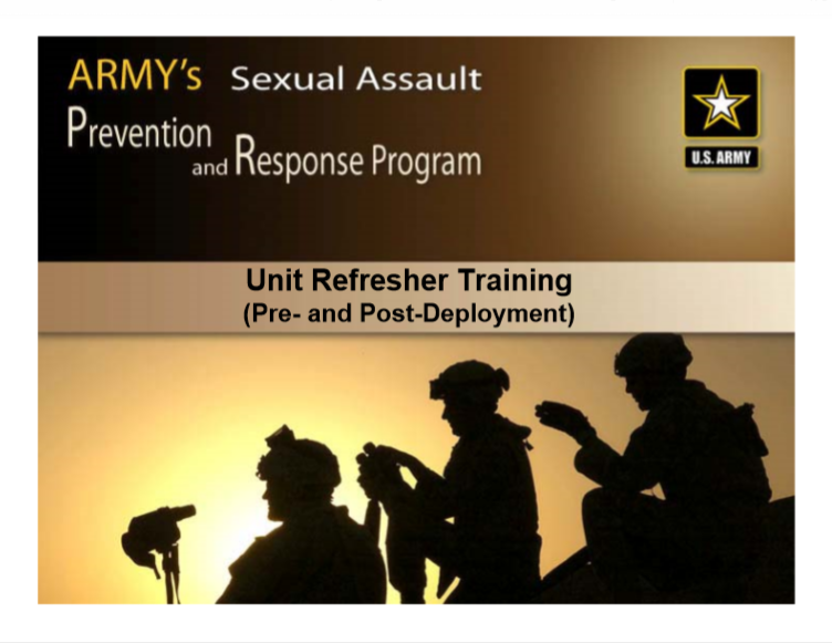 Army Sexual Harassment Prevention