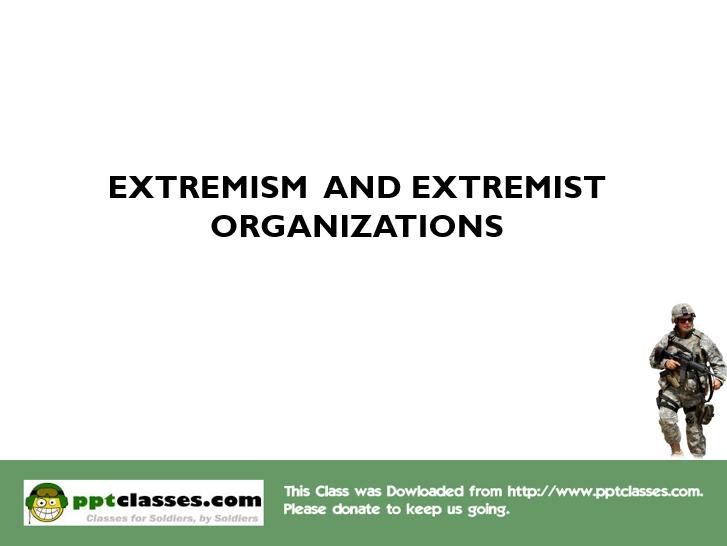 Extremism, v2