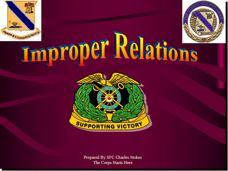 Improper Relationship Class