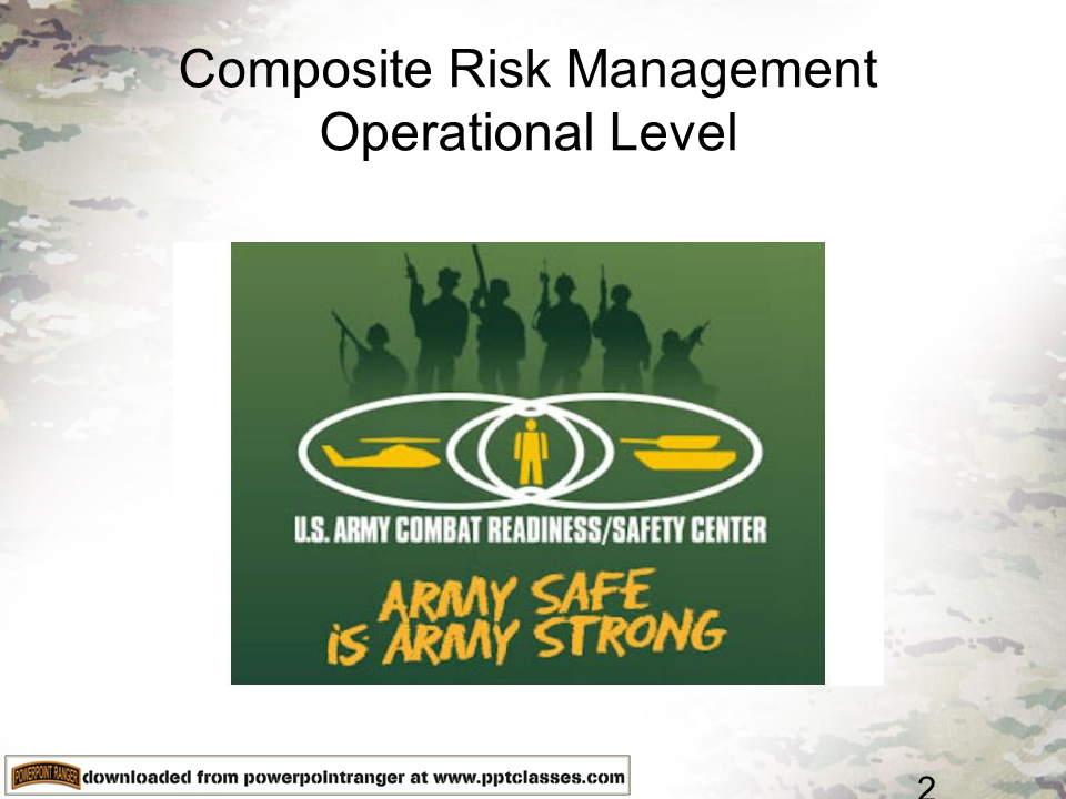 Composite Risk ManagementOperational Level